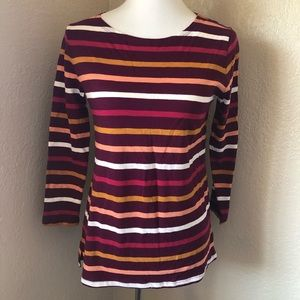 NWT Old Navy Long Sleeve Striped Shirt Sz XS